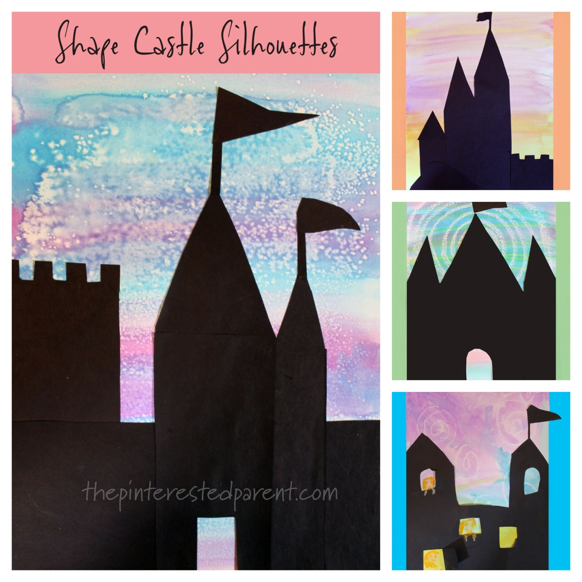 Shape Castle Silhouettes With Watercolors